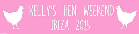 Click to view product details and reviews for Light Pink Hen Party Personalised Banner 12m.