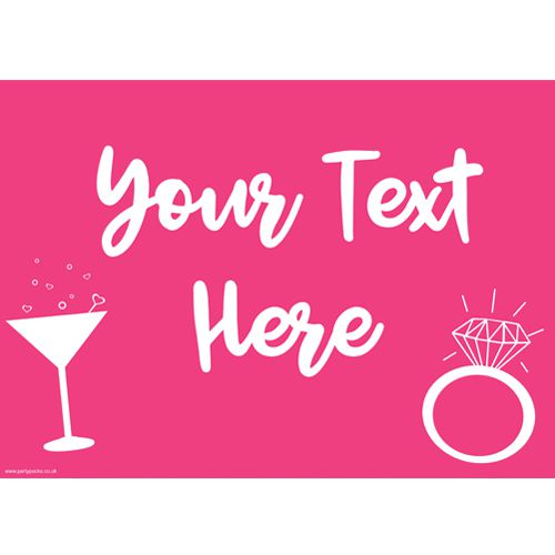 Team Bride Hen Party Personalised Poster- A3