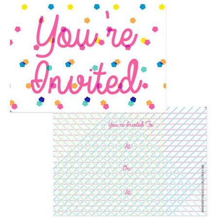 Party Time Invites - Pack of 8