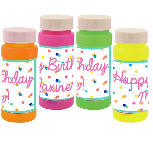 Personalised Bubbles - Party Time - Pack of 6