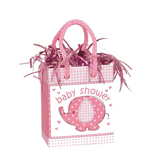 Umbrellaphants Pink Mini Gift Bag Balloon Weight - 8.3cm - 5.5oz