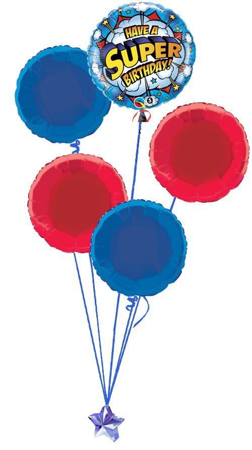 Superhero Balloon Bouquet