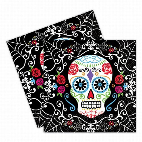 Day of the Dead Luncheon Napkins - 33cm - Pack of 36
