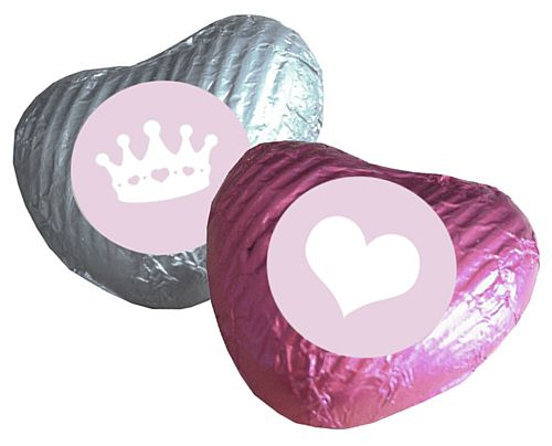 Princess Themed Heart Chocolates - Pack of 24
