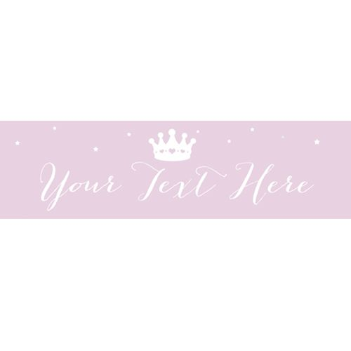 Princess Personalised Banner - 120cm x 30cm