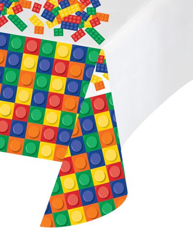 Block Party Plastic Tablecloth - 2.59m
