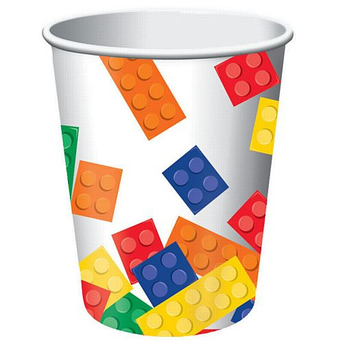 Block Party Paper Cups - 9oz - Pack of 8