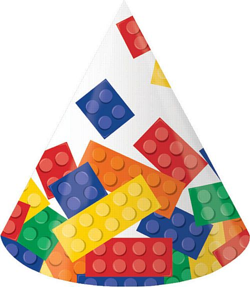 Block Party Children's Party Hats Pk of 8