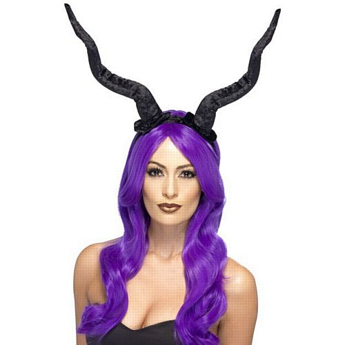 Long Black Demon Horns