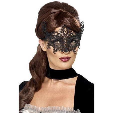Black Lace Filigree Mask