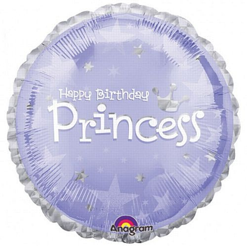 Happy Birthday 2-Colour Princess Foil Balloon - 18""