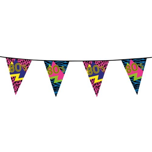 80s Patterned Plastic Bunting - 6m
