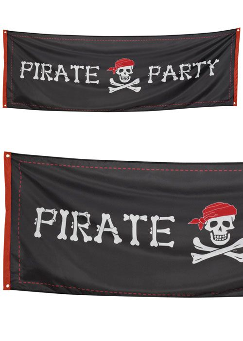 Pirate Party Fabric Banner - 2.2m