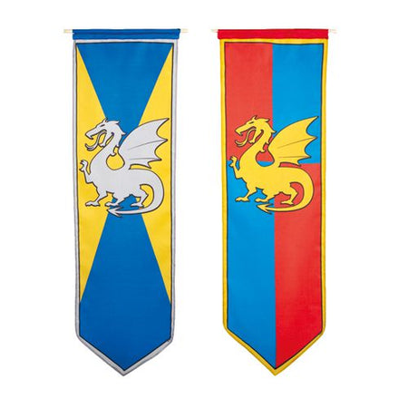 Click to view product details and reviews for Knights And Dragons Hanging Fabric Banner 2 Assorted Designs 1m Sold Individually.