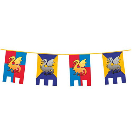 Click to view product details and reviews for Knights And Dragons Plastic Bunting 6m.
