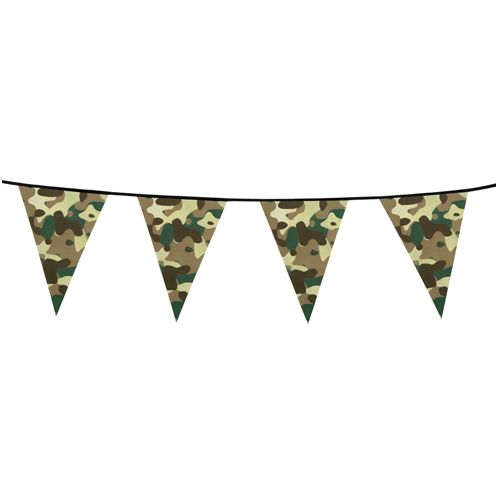 Army Camouflage Plastic Bunting - 6m