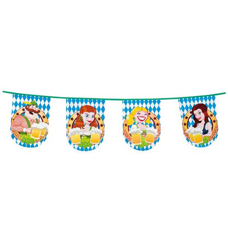 Oktoberfest Beer Party Plastic Bunting - 8m