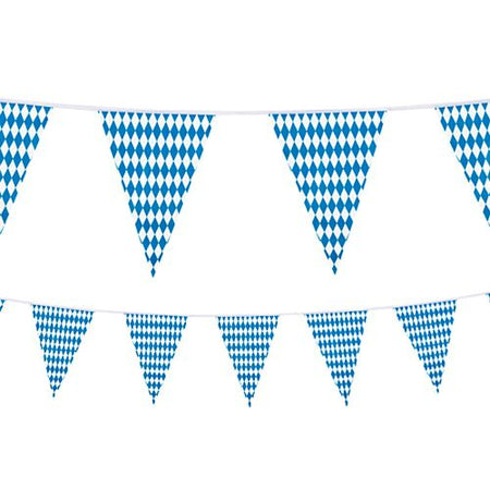 Oktoberfest All Weather Plastic Bunting - 10m - 20 Flags