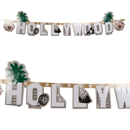 Hollywood Card Letter Banner - 1.35m