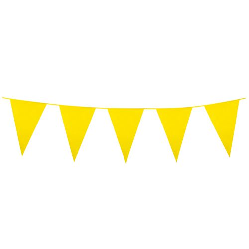 Yellow Giant Outdoor Plastic Bunting - 10m