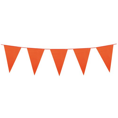 Orange Giant Outdoor Plastic Bunting - 10m
