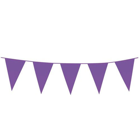 Purple Giant Outdoor Plastic Bunting - 10m