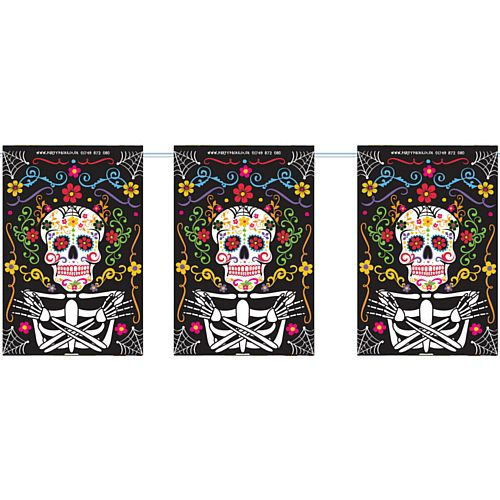 Day of the Dead Small Flag Interior Bunting - 2.4m