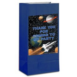 Space Party Themed Party Bag Kit With Stickers - Pack of 12
