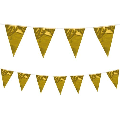 Metallic Gold Bunting - 10m