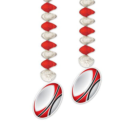 Rugby Ball Danglers - 76.2cm - Pack of 2