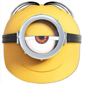 Minions Stuart Card Mask