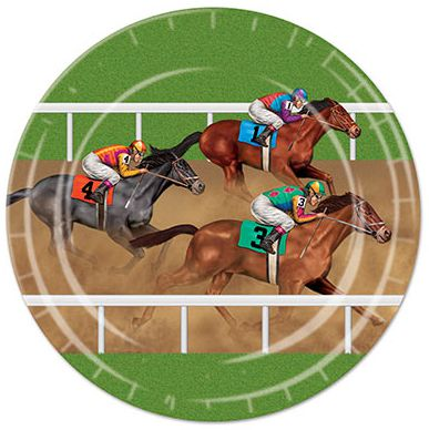Horse Racing Plates - 22.9cm - Pack of 8