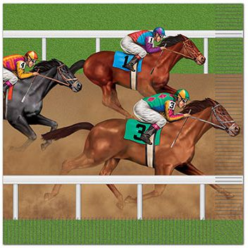 Horse Racing Luncheon 2-Ply Napkins - Pack of 16