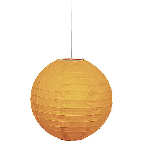 Pumpkin Orange Lantern - 25cm - Each