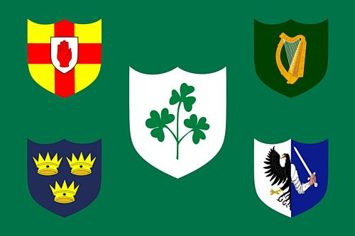 Irish Rugby Football Union Cloth Flag 5ft x 3ft