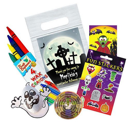 Haunted Graveyard Personalised Sealed Party Bag - With Contents