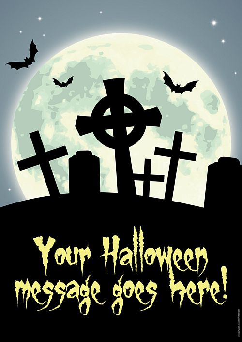 Haunted Graveyard Personalised Poster - A3