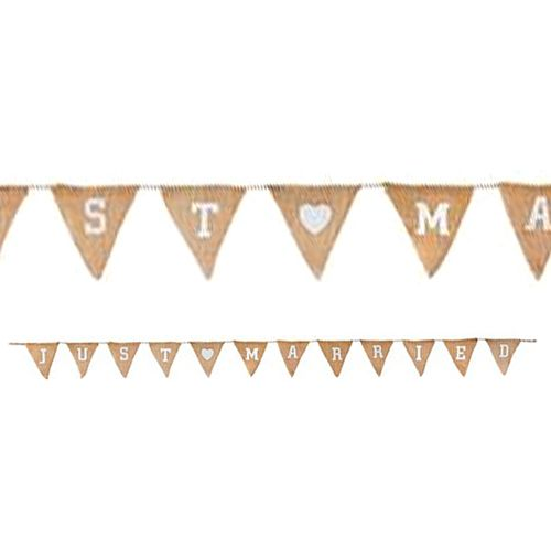 Just Married Natural Hessian Bunting - 3.2m