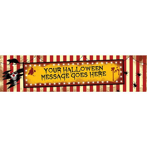 Creepy Clowns Personalised Banner - 1.2m