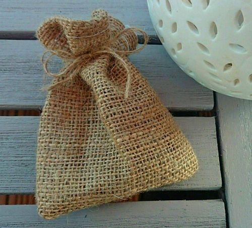 Hessian Favour Bags - Pack of 5