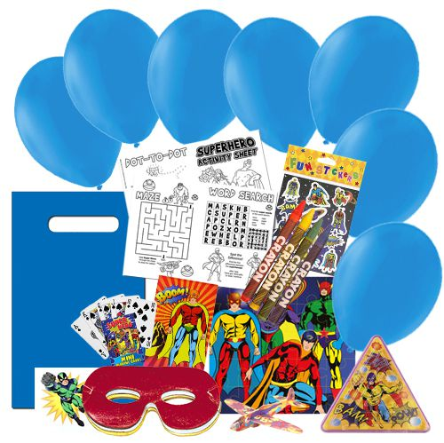 Children's Superhero Party Pack For 100 Children