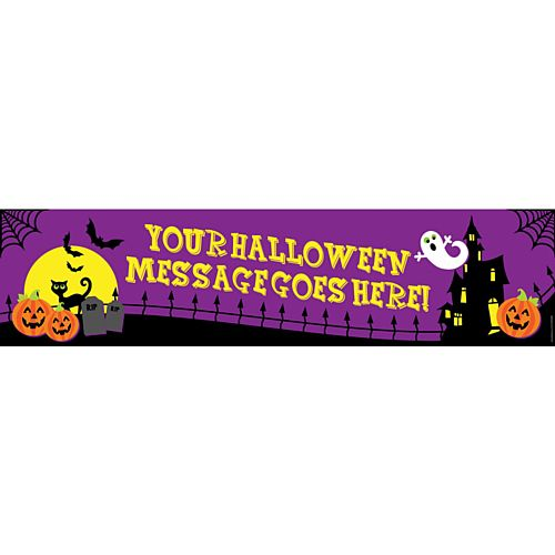 Spooky Mansion Personalised Banner - 1.2m