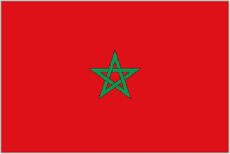 Morocco Polyester Fabric Flag 5ft x 3ft