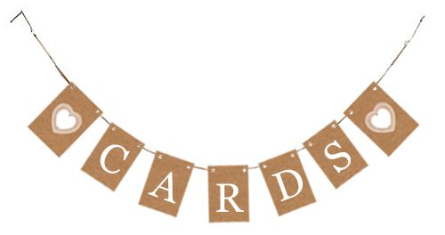 Rustic 'Cards' Card Bunting Kit