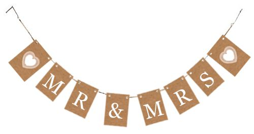 Rustic 'Mr & Mrs' Card Bunting Kit