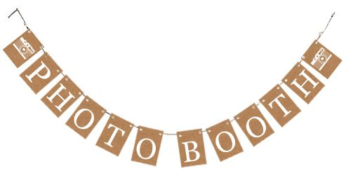 Rustic 'Photo Booth' Card Bunting Kit