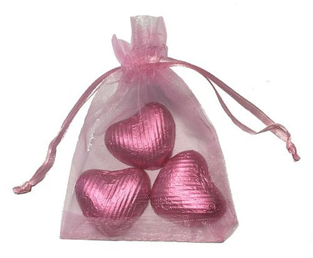 Favour Bag with 3 Chocolates- Pale Pink - Pack of 10