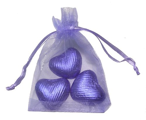 Favour Bag with 3 Chocolates- Lilac - Pack of 10