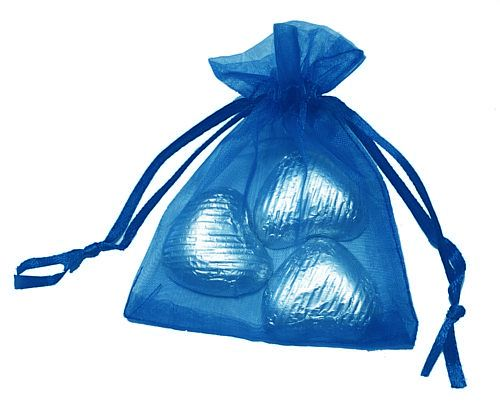 Favour Bag with 3 Chocolates - Royal Blue - Pack of 10