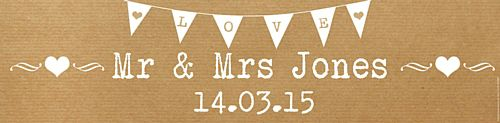 Brown Paper Rustic Personalised Banner - 1.2m